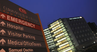 The Cedars-Sinai Medical Center is seen in Los Angeles, California, on December 12, 2009.