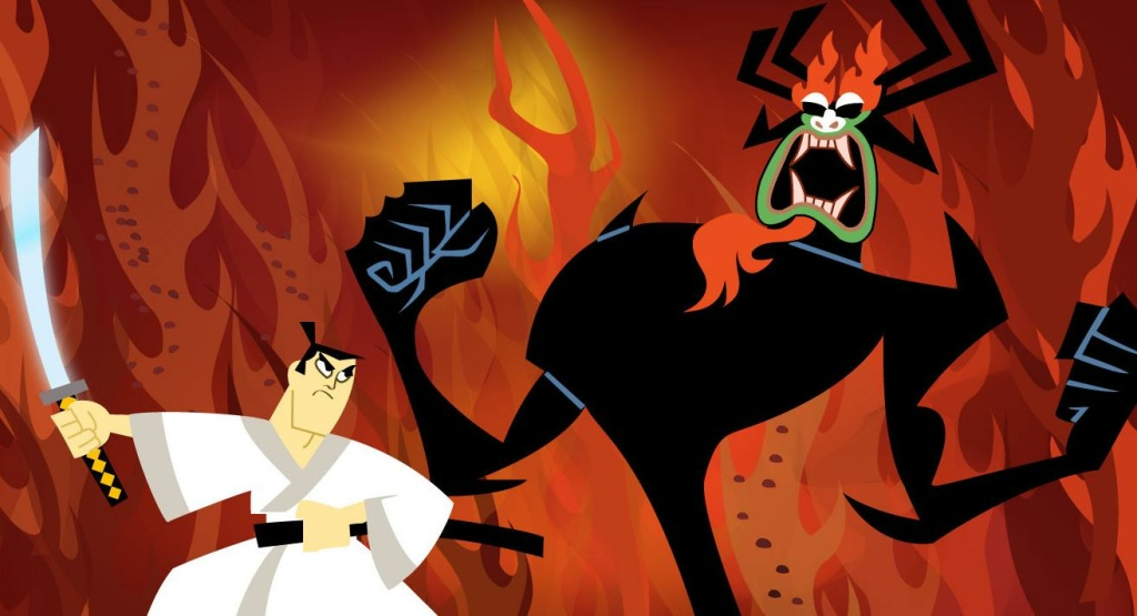 A cel from the original Samurai Jack