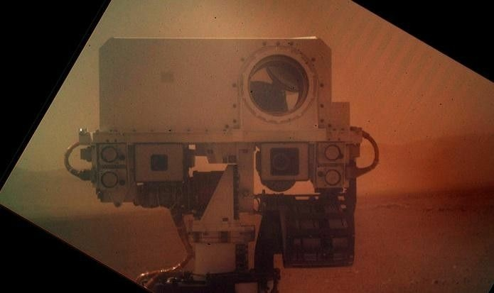 NASA's Curiosity took a picture of itself on Mars.