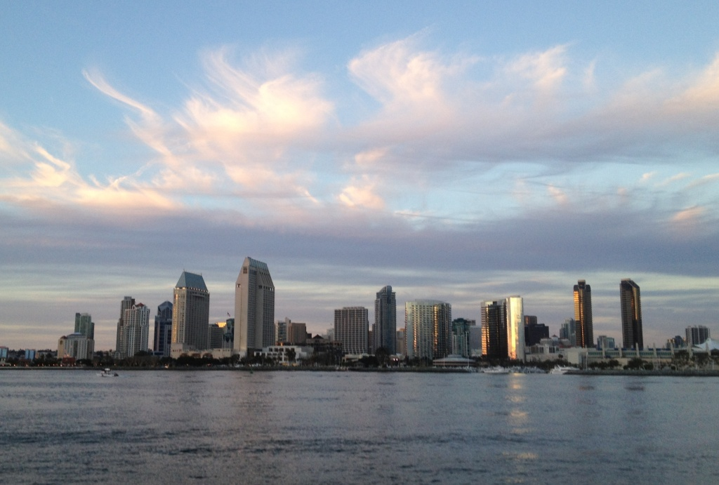 A view of Downtown San Diego from Coronado Bay