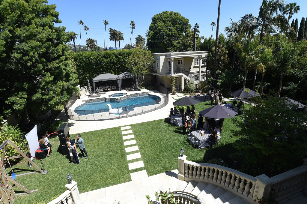 A general view of amosphere at the June Moss Launch Party hosted by Becca Tobin at a private residence on April 8, 2015 in Beverly Hills, California.