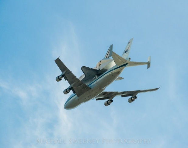 Endeavour over Disneyland