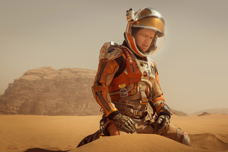 Matt Damon stars as astronaut Mark Watney in