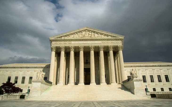 The US Supreme Court Building is seen in