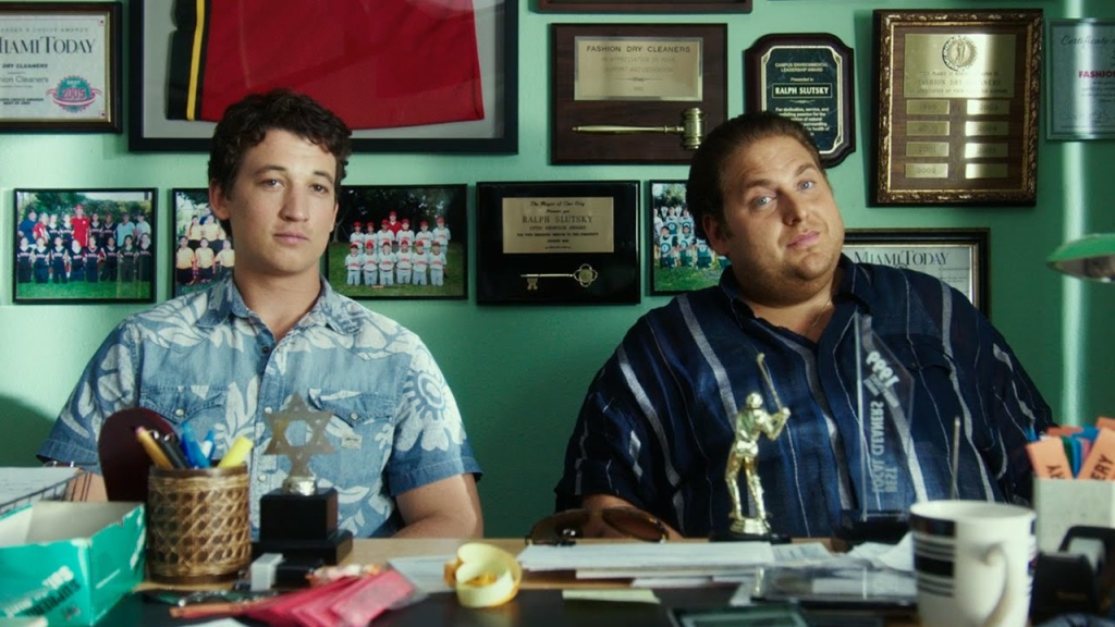 """Miles Teller and Jonah Hill star in """"War Dogs"""", a true story about young arms dealers."""