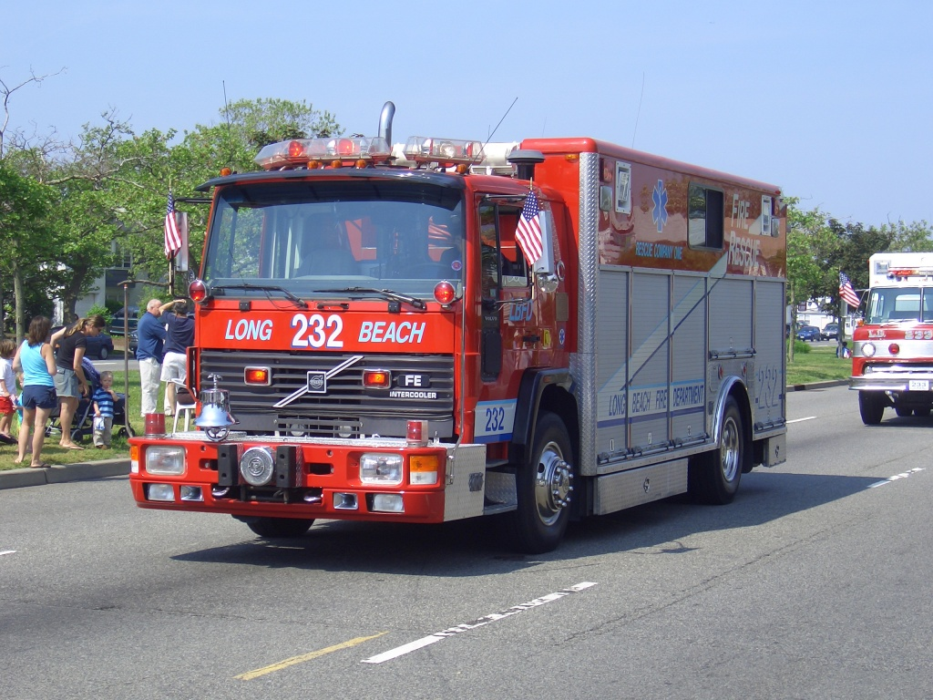 A truck with the Long Beach fire department.