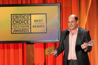 Producer Matthew Weiner accepts Best Drama series award for Mad Men onstage at the Critics' Choice Television Awards at Beverly Hills Hotel on June 20, 2011 in Beverly Hills, California.