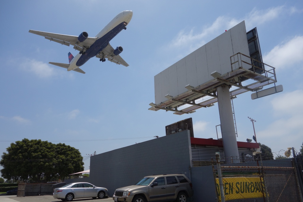 FILE: An airplane prepares to land at Los Angeles International Airport.