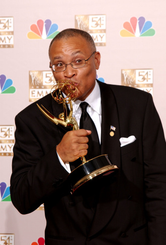 Larry Wilmore at 54th Annual Primetime Emmy Awards Backstage