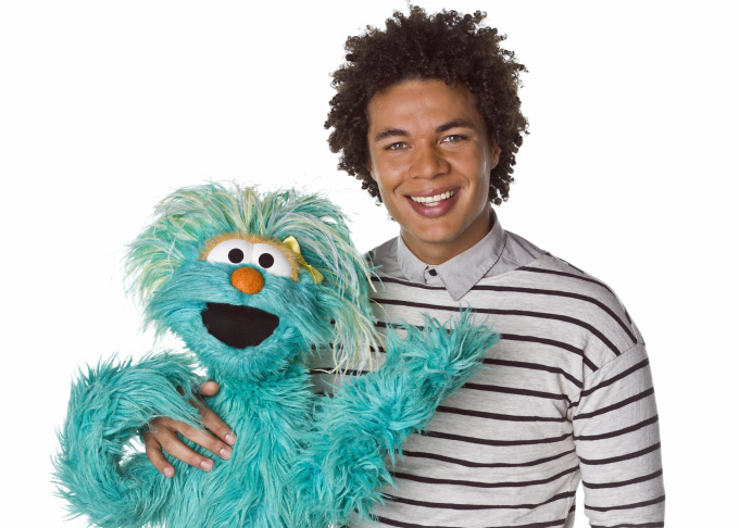 This April 2013 photo released by Sesame Workshop shows  Puerto Rican actor Ismael Cruz Cordova, 26, of