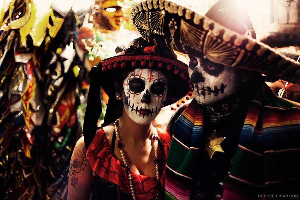 Revelers in Los Angeles celebrate Día de los Muertos.