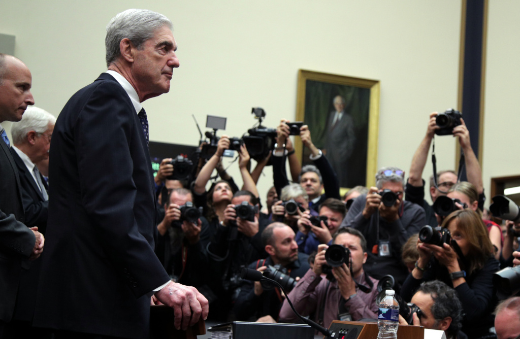 Former special counsel Robert Mueller arrives to testify to the House Judiciary Committee about his report on Russian interference in the 2016 presidential election on Wednesday