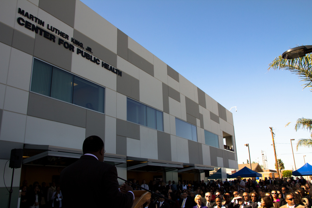 The Martin Luther King Public Health Center opened to great fanfare in L.A. on Oct. 7, 2011.