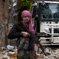 SYRIA-CONFLICT-REBELS-TEENAGER