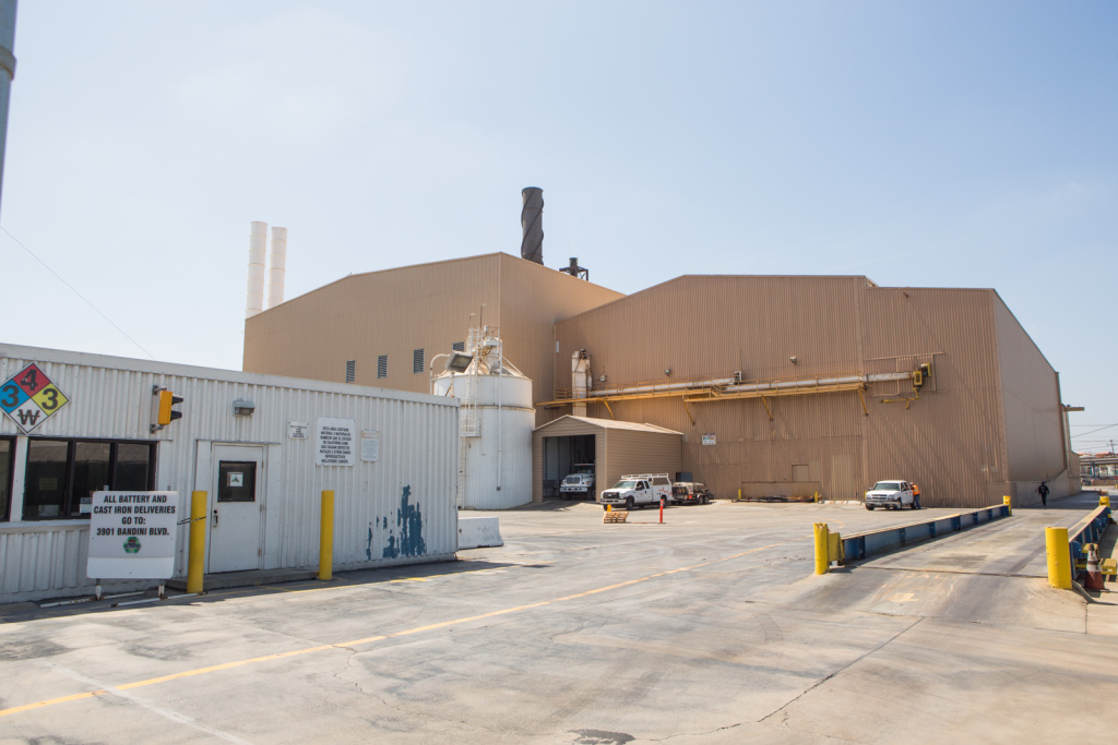 The Exide Technologies battery recycling plant in Vernon.