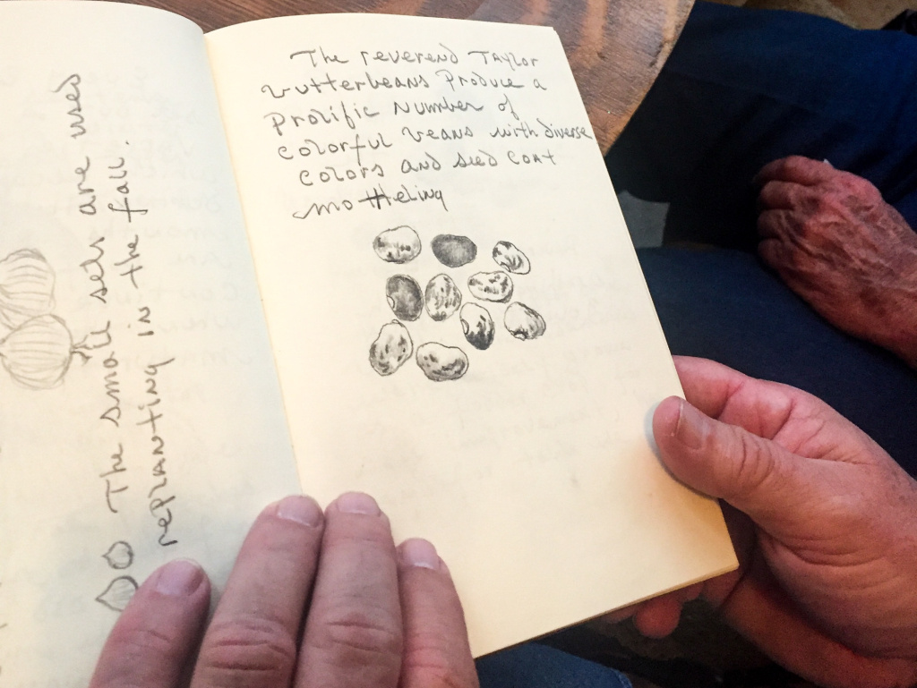Seed preservationist John Coykendall, also a trained artist, keeps detailed journals of all of his seed expeditions, something he calls