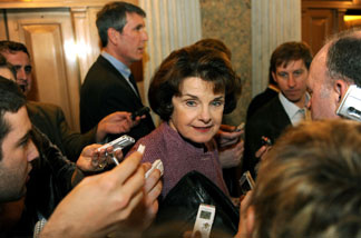 US Senator Dianne Feinstein (D-CA) is a seasoned veteran when it comes to dealing with the Washington DC press corps. But newly-elected members of California's Congressional delegation are learning how best to handle Capitol Hill reporters.