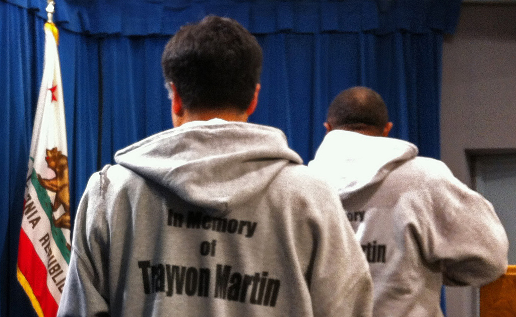 Lawmakers wear hoodies in support of slain teen Trayvon Martin, March 29, 2012.