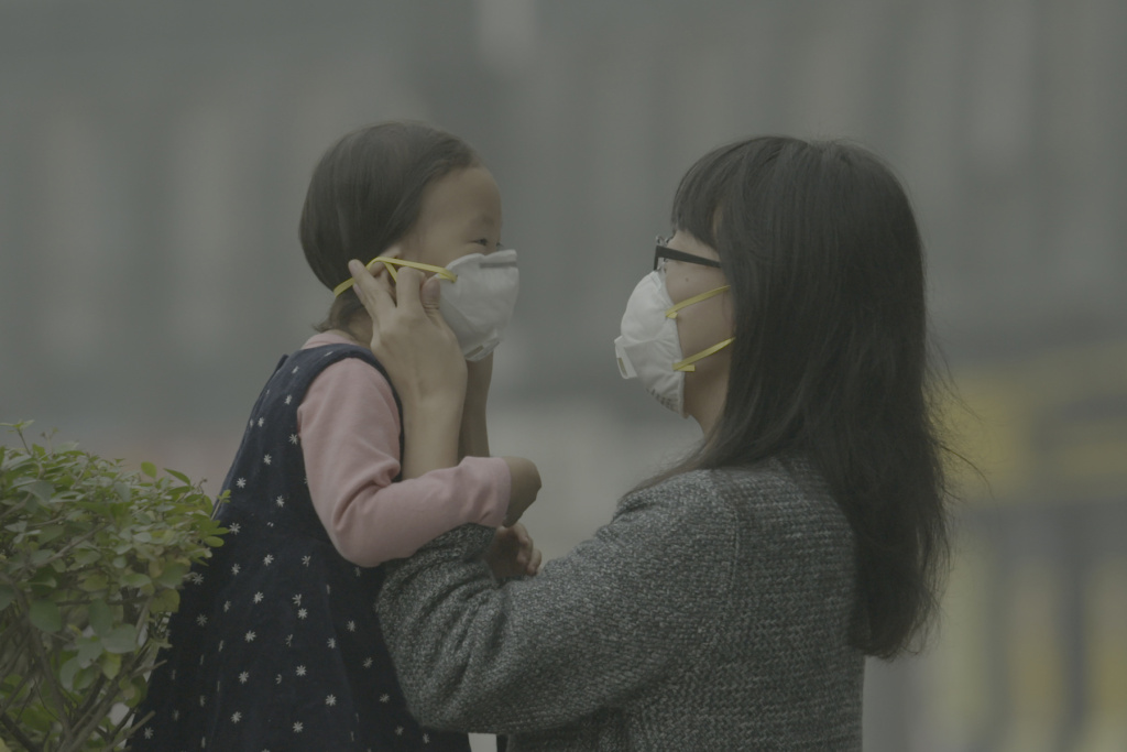 Air pollution in some parts of China is at a crisis level, as noted in the documentary,