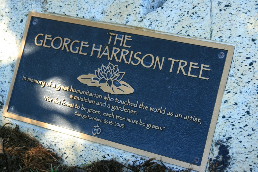 george harrison tree griffith park