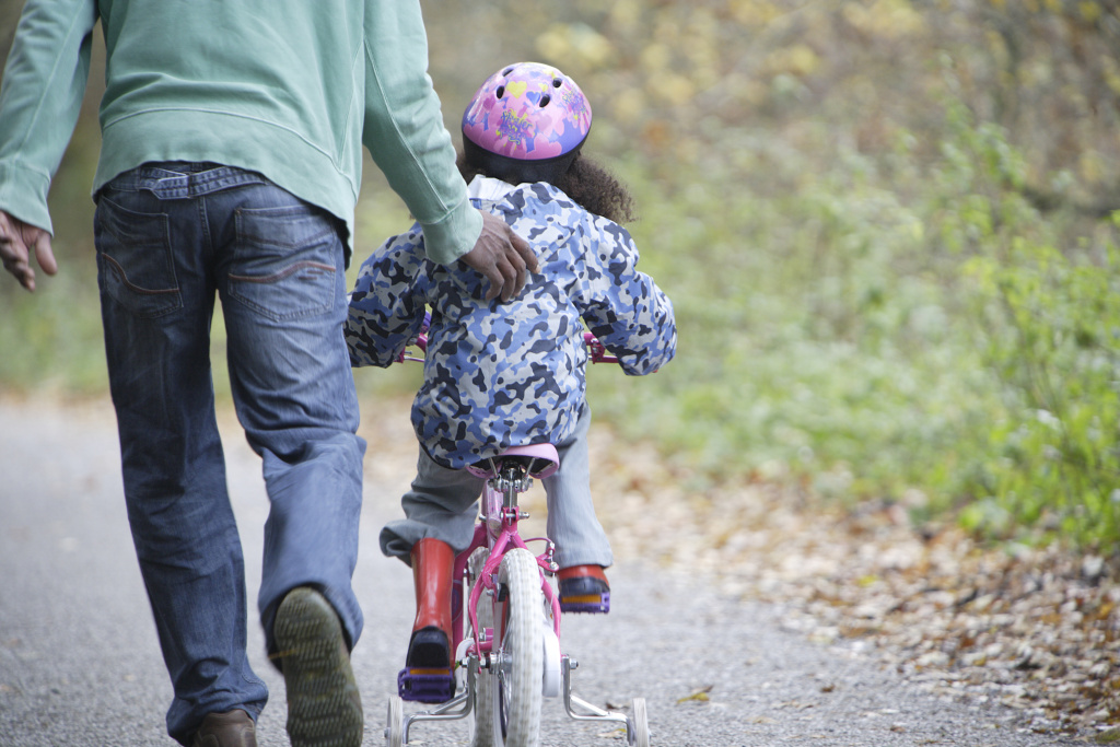 Learning to ride a bike can lead to memorable tumbles. It's the brain's