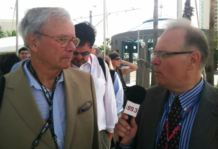 Larry Mantle interviews Tom Brokaw at the 2012 Republican National Convention