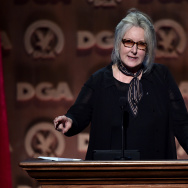 Director Betty Thomas speaks onstage at the 67th Annual Directors Guild Of America Awards at the Hyatt Regency Century Plaza on February 7, 2015 in Century City.