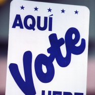 Early Voting in El Paso, Texas spanish sign