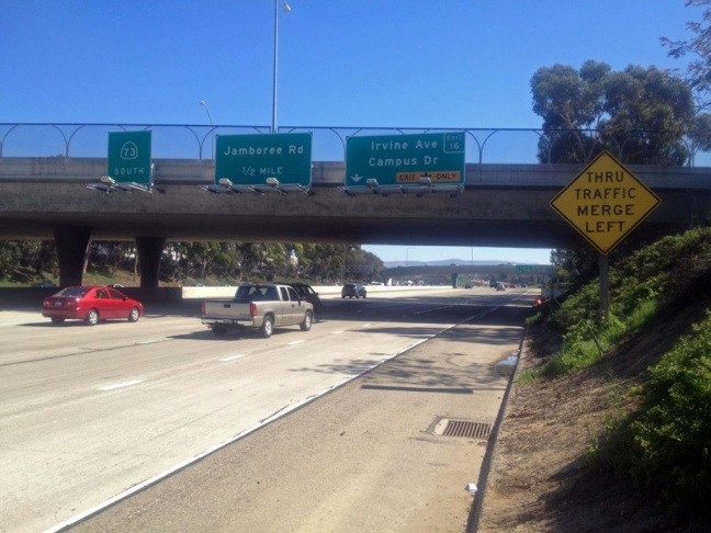 This is one stretch of the 73 toll road in Orange County that will be closed for the filming of