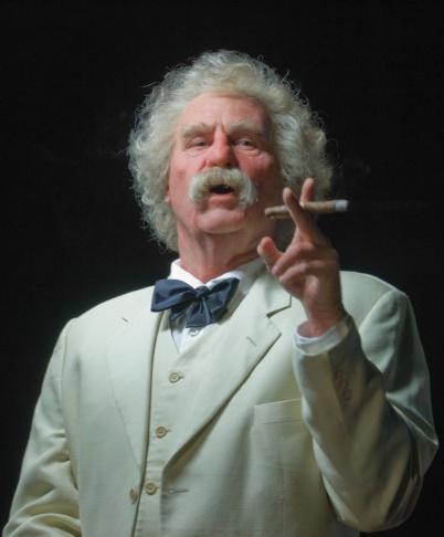 Val Kilmer as Mark Twain in his one-man show
