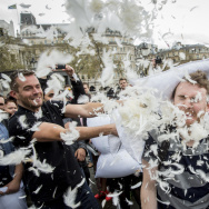 World Pillow Fight Day Is Celebrated In Trafalgar Square