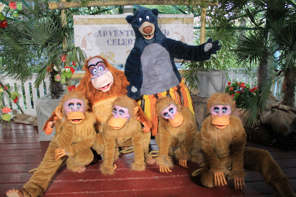 King Louie, Baloo and the monkeys from