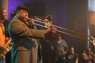 Wendell Pierce, a veteran of David Simon's The Wire, plays trombonist Antoine Batiste on Simon's new HBO series, Treme. Simon has just started blogging. But he won't write for free.