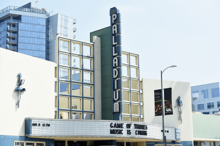 A view of the marquee at the Hollywood Palladium on August 8, 2016.