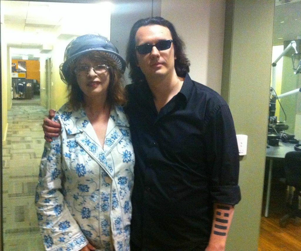Damien Echols with KPCC's Patt Morrison