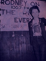 A young Rodney Bingenheimer touts his punk set on the Roq.