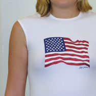 XOXO Jeans, a division of Aris Industries and XOXO Clothing Col, is selling a limited-edition $29 flag T-shirt, donating part of the proceeds to the American Red Cross'' disaster relief fund.