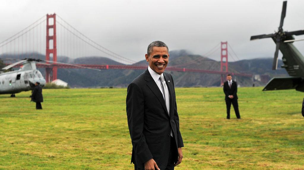 President Obama prepares to depart San Francisco on Thursday.