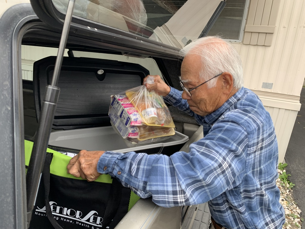 Richard Gaza, 84, has been delivering Meals on Wheels for 14 years.