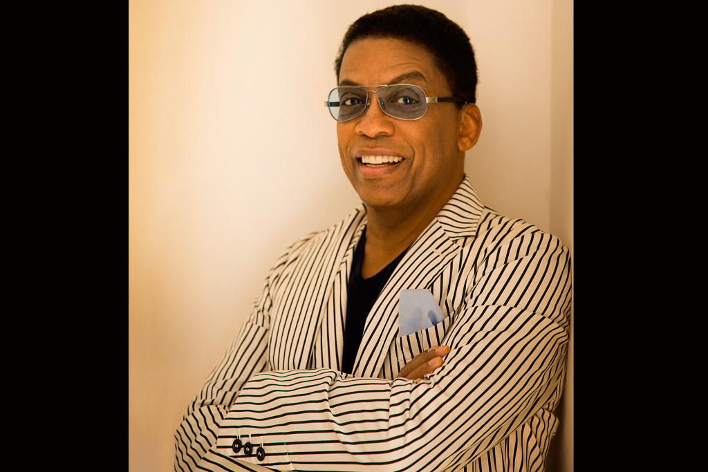 Jazz pianist Herbie Hancock performs at the Hollywood Bowl on Aug. 24.