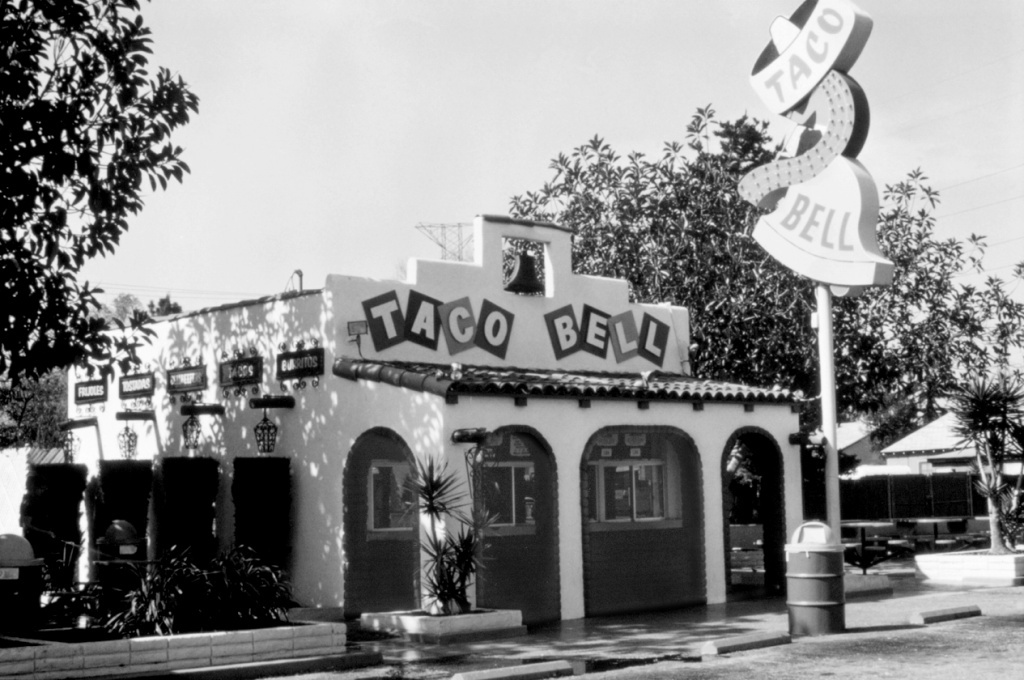 Taco Bell's first store is shown in Downey, California, in an undated photo.