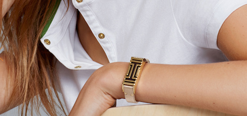 Fashion designer Tory Burch teamed up with FitBit to create stylish metallic versions of the fitness tracker.