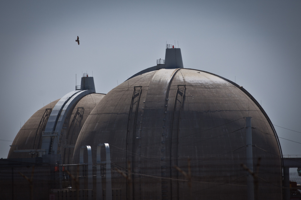 The San Onofre Nuclear Power Plant is seen on April 6, 2012. The operator of California's troubled San Onofre nuclear power plant estimates that the damaged twin reactors could be running by the end of the year.