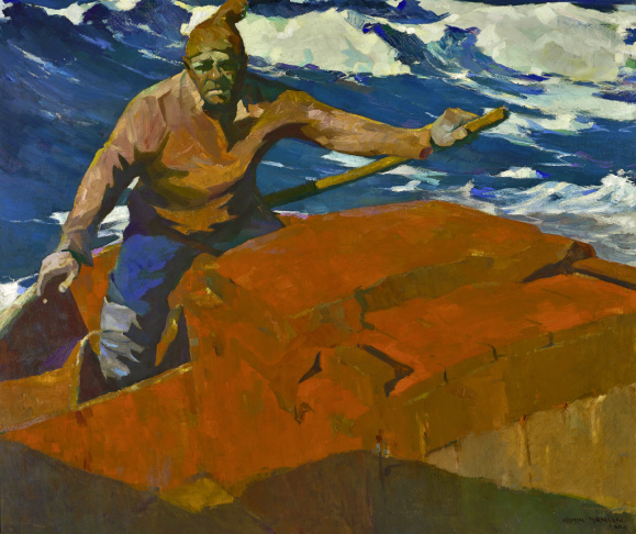 Armin Hansen, Nino, c. 1919. Oil on canvas, 50 x 60 in. Monterey Museum of Art. Gift of Jane and Justin Dart.