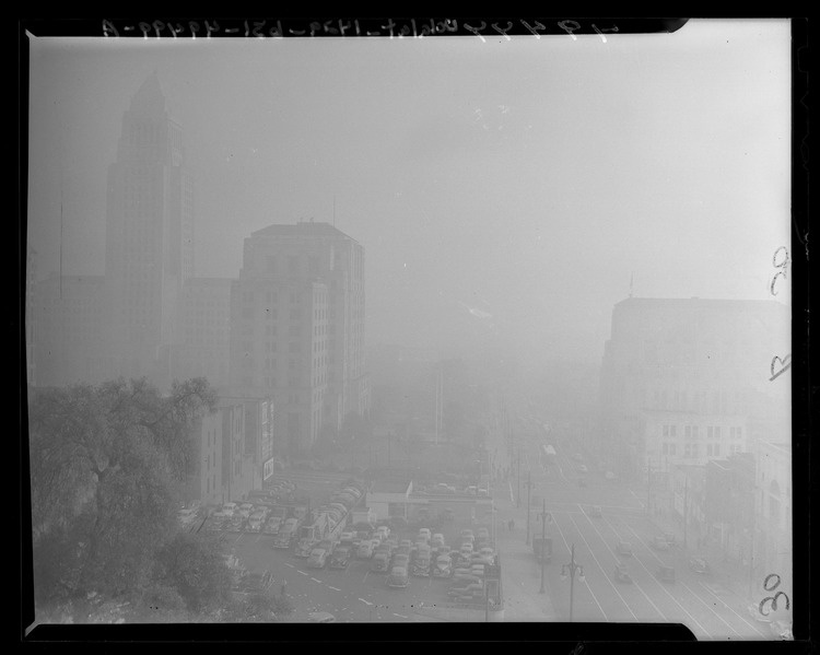A view of part of the Civic Center on January 6, 1948,