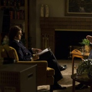 "A scene from the film ""Frost/Nixon."""