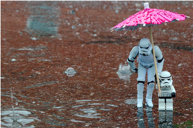 storm trooper, stormtrooper, weather, rain, umbrella