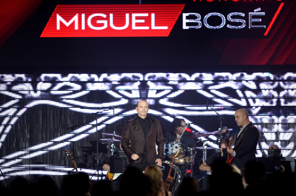 Honoree Miguel Bose performs onstage during the 2013 Latin Recording Academy Person Of The Year honoring Miguel Bose at the Mandalay Bay Events Center on November 20, 2013 in Las Vegas, Nevada.
