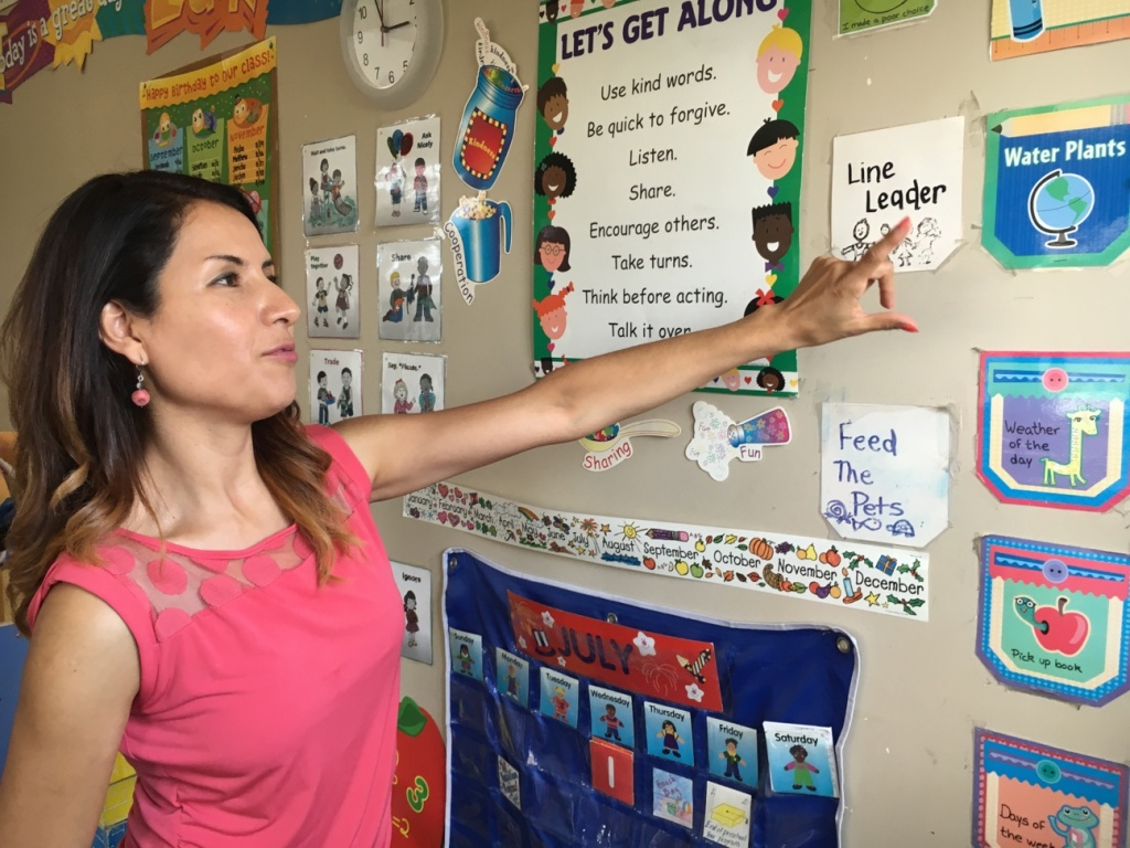 Claudia Mendoza, who owns and runs the Joy of Learning Academy in Rowland Heights, is facing an end of LAUP funding this month. Her family child care center, which has been open for two decades, may have to lay off workers and cut back on classes.