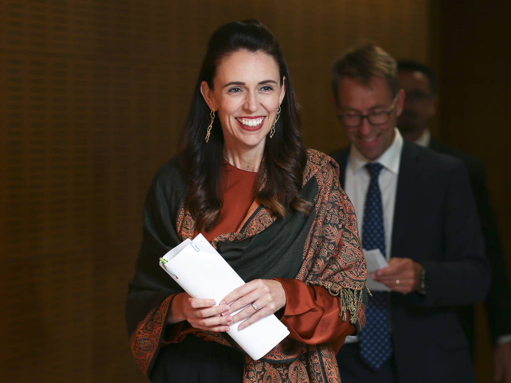 New Zealand Prime Minister Jacinda Ardern, pictured on Wednesday, announced on Thursday that the country's schools will offer free period products starting later this year.